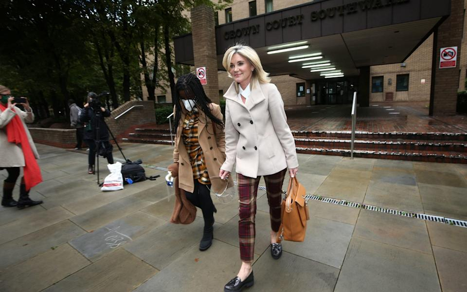Anthea Turner and Diane-Louise Jordan gave evidence at Southwark Crown Court - PA