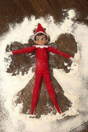 "<p>A little bit of spilled flour or sugar is a delight for the elf who wants to make snow angels.</p> <p>Source: <a href=""http://www.skinnymom.com/2013/11/20/75-family-friendly-elf-on-the-shelf-ideas/"" target=""_blank"">Skinny Mom</a></p> <p></p>"