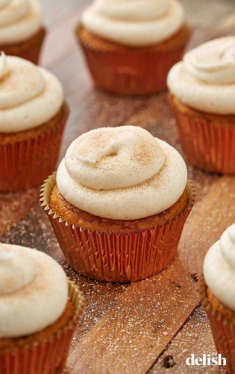 "<p>The sugar and spice on top is almost TOO good.</p><p>Get the recipe from <a href=""https://www.delish.com/cooking/recipe-ideas/a28438880/easy-pumpkin-spice-cupcakes-recipe/"" rel=""nofollow noopener"" target=""_blank"" data-ylk=""slk:Delish"" class=""link rapid-noclick-resp"">Delish</a>.</p>"