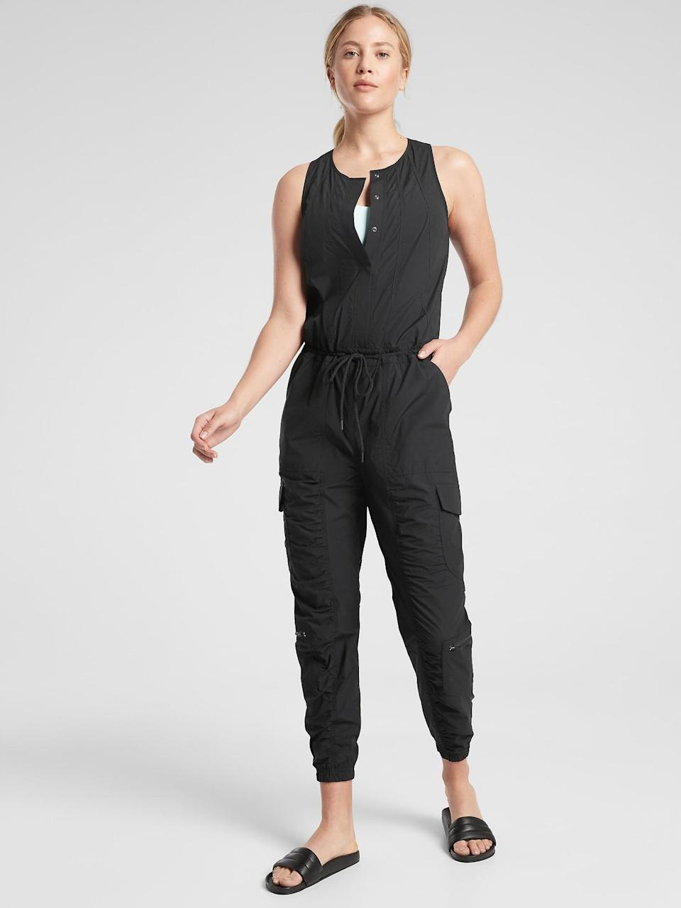 <p>If they love jumpsuits, then get them this comfy and versatile <span>Athleta Canopy Parachute Romper</span> ($35, originally $158).</p>