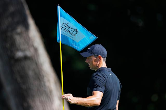 """<a class=""""link rapid-noclick-resp"""" href=""""/pga/players/8016/"""" data-ylk=""""slk:Rory McIlroy"""">Rory McIlroy</a> prepares for the Charles Schwab Challenge. (Tom Pennington/Getty Images)"""