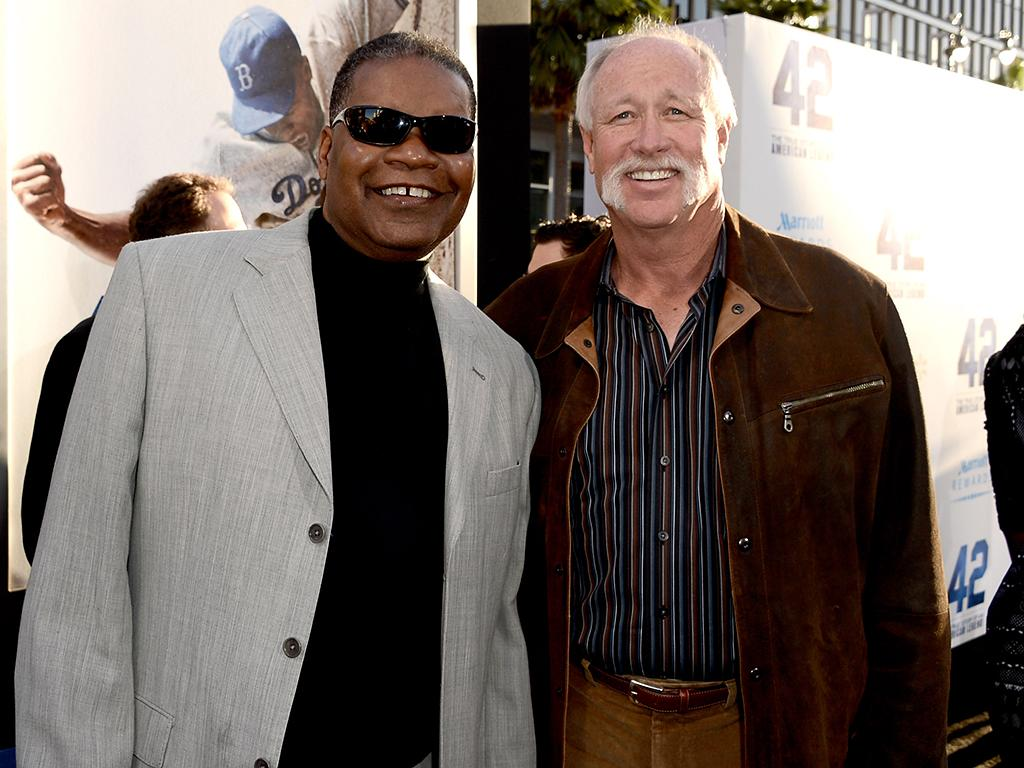 "LOS ANGELES, CA - APRIL 09:  Former MLB players Dave Henderson (L) and Richard ""Goose"" Gossage arrive at the premiere of Warner Bros. Pictures' and Legendary Pictures' ""42"" at the Chinese Theatre on April 9, 2013 in Los Angeles, California.  (Photo by Kevin Winter/Getty Images)"