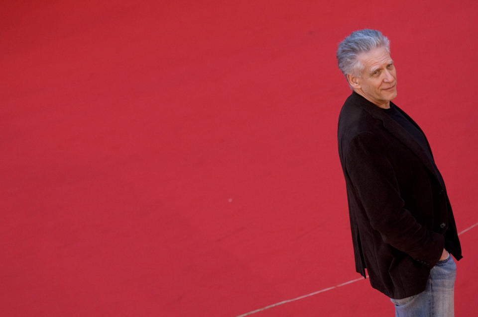 U.S. director David Cronenberg poses on the red carpet as he arrives for the Rome Film Festival October 23, 2008.   REUTERS/Max Rossi (ITALY)