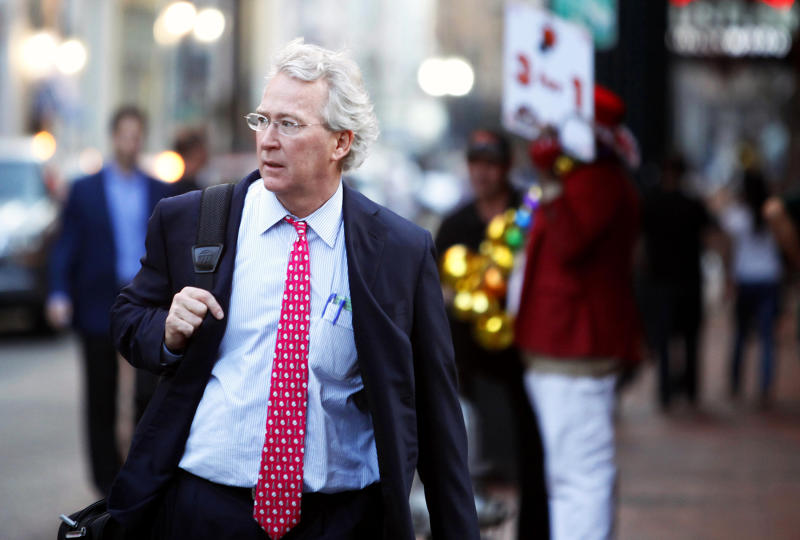 Chief Executive Officer, Chairman, and Co-founder of Chesapeake Energy Corporation Aubrey McClendon walks through the French Quarter in New Orleans, Louisiana March 26, 2012. McClendon visited New Orleans while attending the Howard Weil Annual Energy Conference. REUTERS/Sean Gardner (UNITED STATES - Tags: BUSINESS ENERGY)