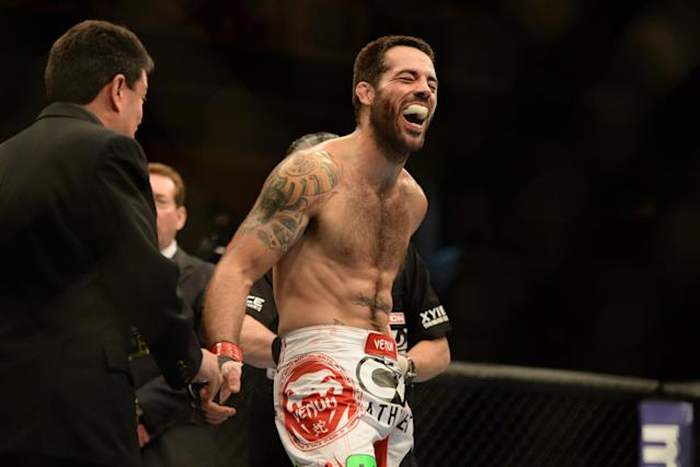 Matt Brown training with Jon Fitch for UFC Fight Night