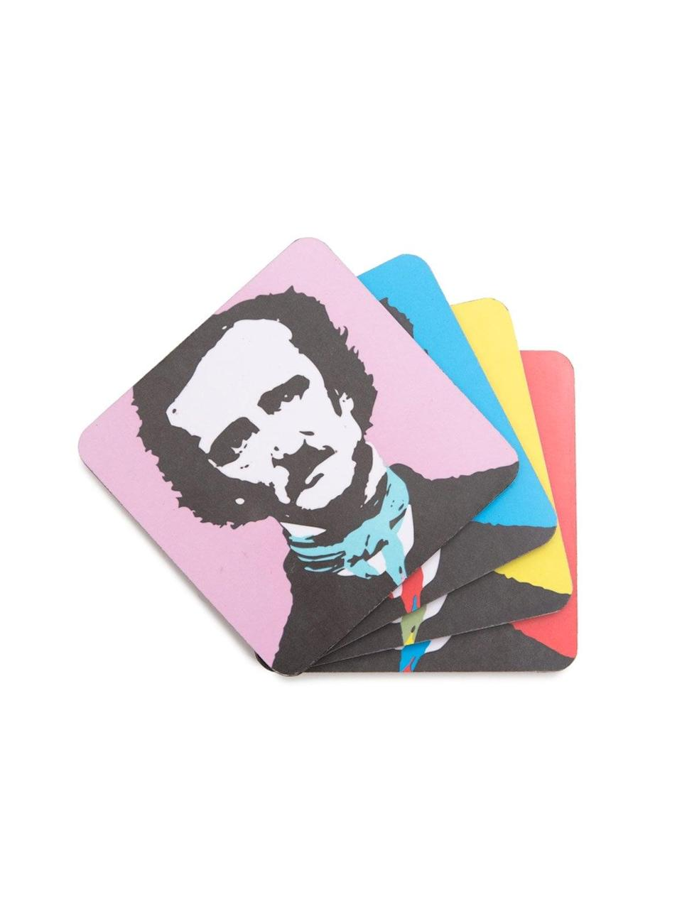 <p>They can add a <em>pop</em> of color to their decor with this <span>Out of Print Pop Poe Coaster Set</span> ($14, originally $18).</p>