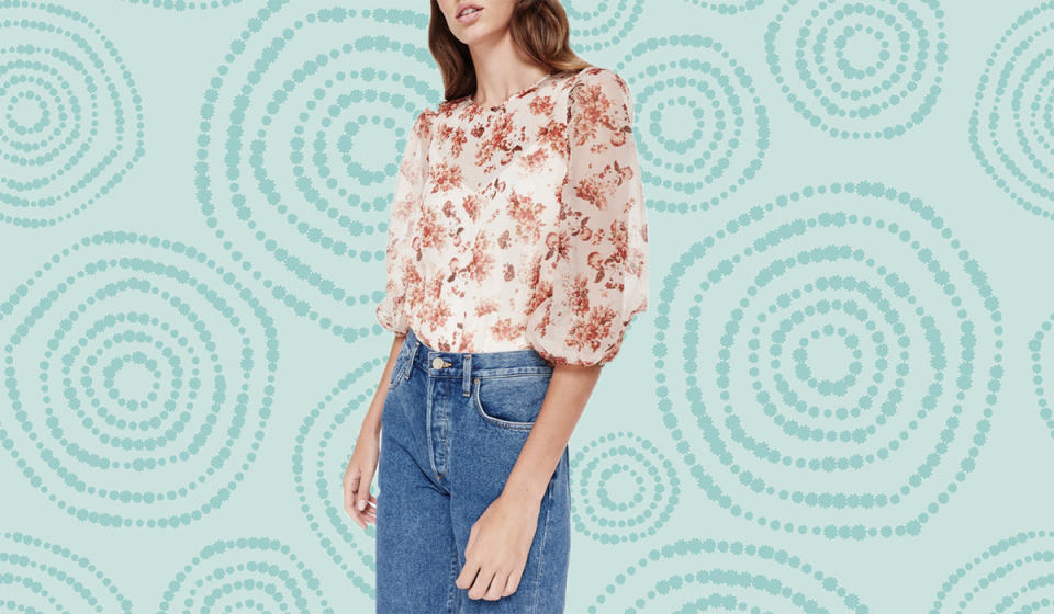 This romantic blouse begs to be worn for literally any and every occasion. (Photo: Nordstrom Rack)