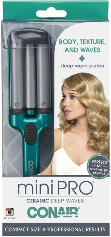 """<p><strong>Conair</strong></p><p>ulta.com</p><p><strong>$19.99</strong></p><p><a href=""""https://go.redirectingat.com?id=74968X1596630&url=https%3A%2F%2Fwww.ulta.com%2Fminipro-ceramic-deep-waver%3FproductId%3Dpimprod2005762&sref=https%3A%2F%2Fwww.womenshealthmag.com%2Flife%2Fg33337175%2Fcurling-irons-for-beach-waves%2F"""" rel=""""nofollow noopener"""" target=""""_blank"""" data-ylk=""""slk:Shop Now"""" class=""""link rapid-noclick-resp"""">Shop Now</a></p><p>If you anticipate styling on-the-go, this mini deep waver will fit right into your purse and it heats up in just 30 seconds using even heat distribution and ceramic technology. </p>"""