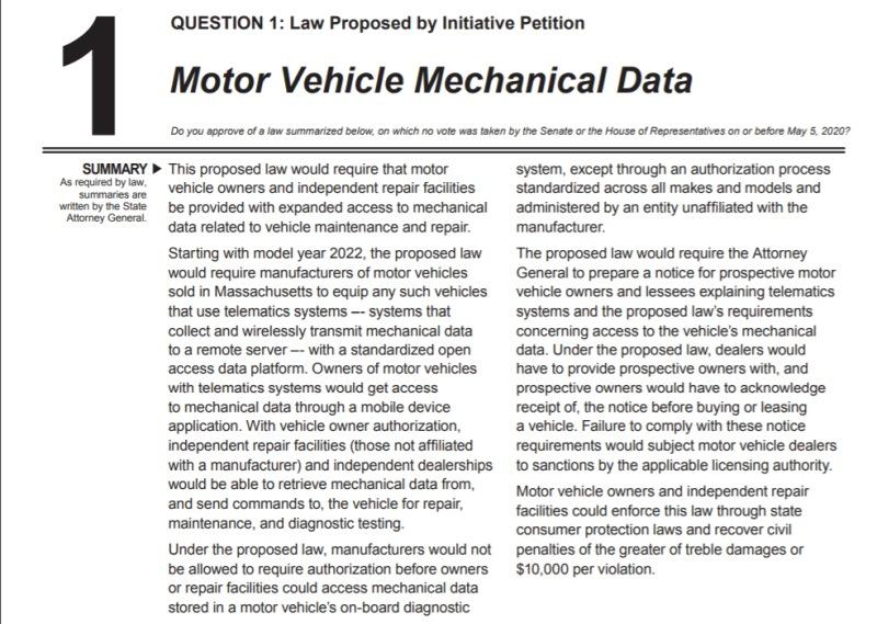Question 1 text - Motor Vehicle Mechanical Data