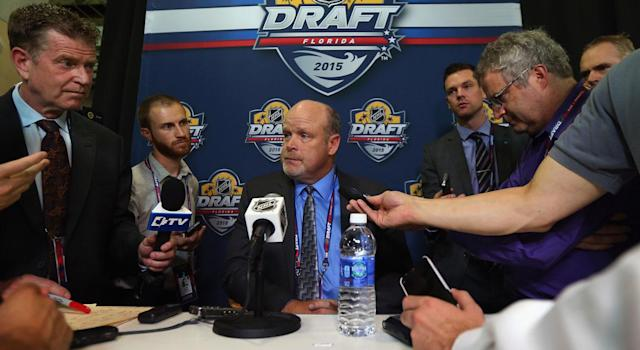 Mark Hunter is leaving the NHL ranks. (Getty)