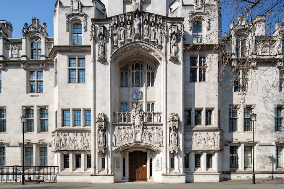 The Supreme Court in London, as lockdown remains in place across the UK to help curb the spread of the coronavirus. (Photo by Aaron Chown/PA Images via Getty Images)