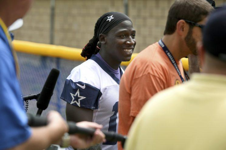 Lucky Whitehead was cut by the Cowboys on Monday after a warrant was issued for his arrest. Tuesday, that warrant was rescinded over a case of mistaken identity. (AP)