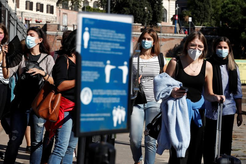 Italy faces a surge in the coronavirus disease (COVID-19) infections, in Rome