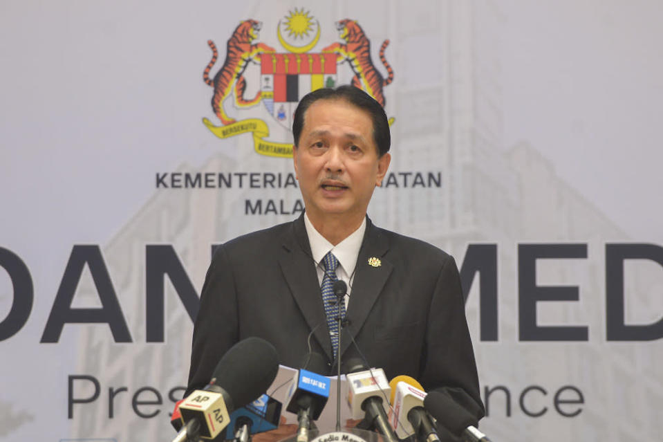 Health D-G Tan Sri Dr Noor Hisham wrote in a statement that Sabah still tops the new daily positive cases, while Klang Valley followed closely with both Kuala Lumpur and Selangor cases going up. — Picture by Miera Zulyana