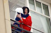 "<p>The pop star earned his ""Wacko Jacko"" moniker when he stepped out onto the balcony of a Berlin hotel in 2002 to say hello to fans gathered below. That'd be all well and good if he didn't use the opportunity to dangle his 9-month-old son Prince over the railing, obscuring the child's face with a towel and holding on with just one arm. After the reckless move was widely condemned, <a href=""http://www.mtv.com/news/1458799/michael-jackson-calls-baby-dangling-incident-a-terrible-mistake/"" rel=""nofollow noopener"" target=""_blank"" data-ylk=""slk:Jackson apologized"" class=""link rapid-noclick-resp"">Jackson apologized</a>, calling it a ""terrible mistake."" </p>"