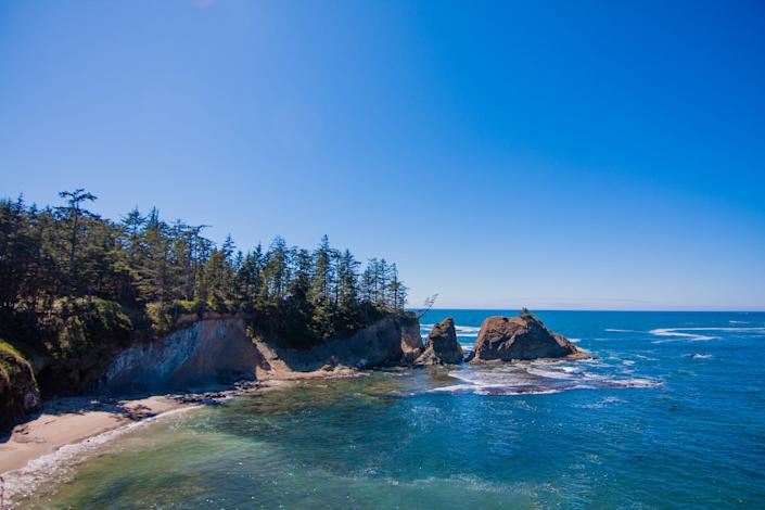 Coos Bay, the largest city on Oregon's gorgeous Pacific Coast,offers a chance to visit sandy beaches surrounded by a beautiful natural setting with three different state parks within 15 miles.