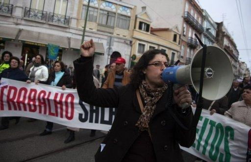Several thousand Portuguese protest austerity cuts