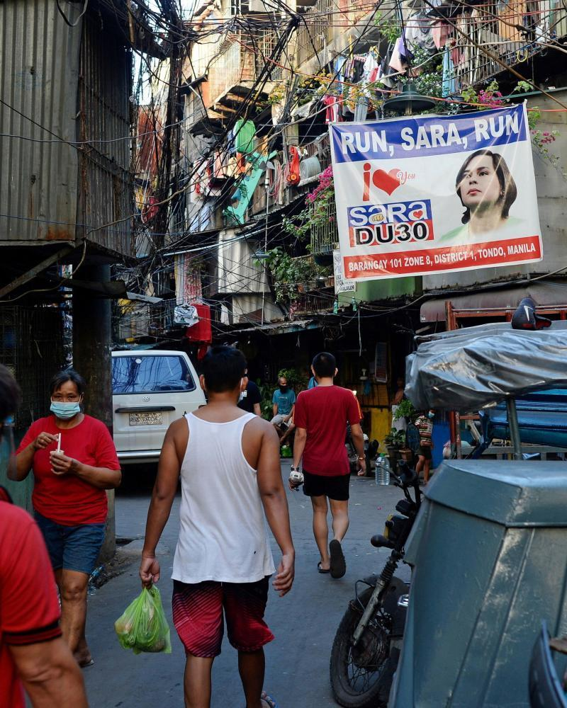 Banners in Davao City are urging mayor Sara Duterte to run for the Philippine presidency