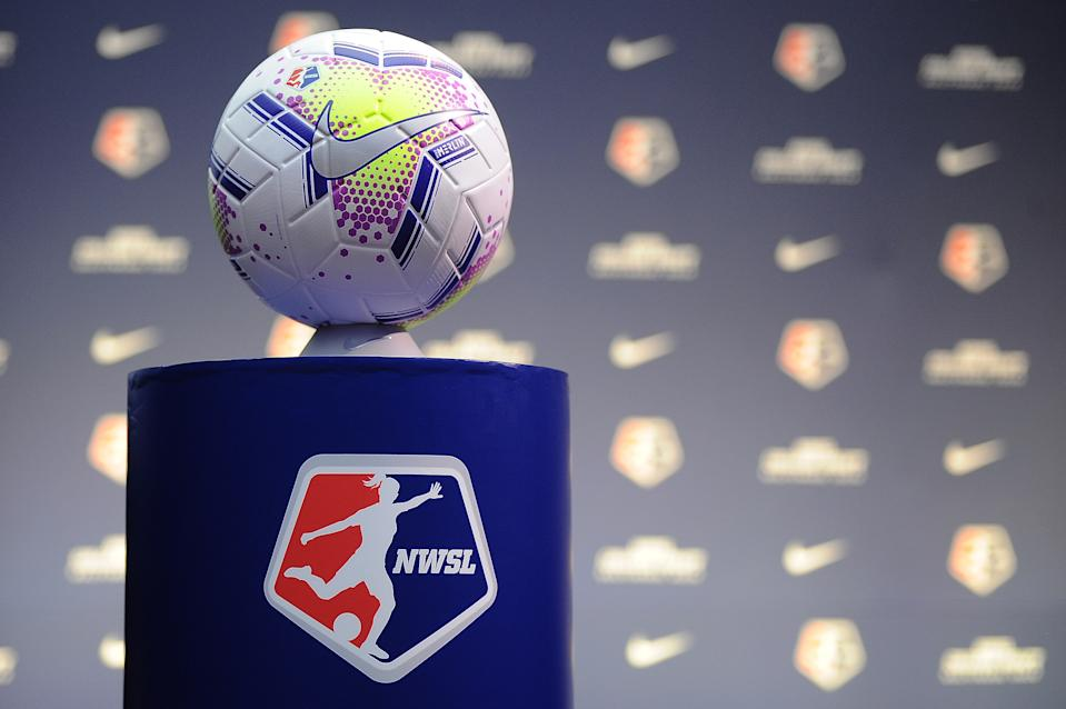BALTIMORE, MD - JANUARY 16: NWSL game ball during the 2020 NWSL College Draft at the Baltimore Convention Center on January 16, 2020 in Baltimore, Maryland. (Photo by Jose Argueta/ISI Photos/Getty Images)