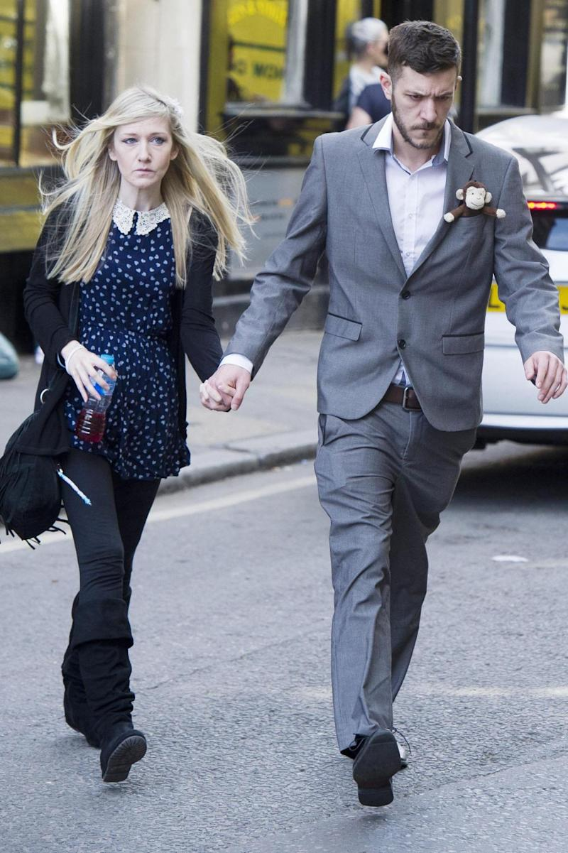 Chris Gard and Connie Yates, the parents of eight-month-old Charlie Gard, arrive at The Royal Courts of Justice in London for the verdict. (PA)