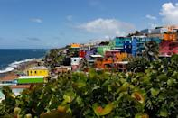 "A view of the neighborhood of La Perla, where the video ""Despacito"" was recorded in San Juan (AFP Photo/Ricardo ARDUENGO)"
