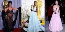 <p>From timeless Hollywood glamour to over-the-top headline grabbers, our favorite Oscar moments almost always happen on the red carpet. On Sunday, April 25, we'll see who takes home the gold statues at the 93rd Oscar ceremony, but until then, here are the most iconic dresses worn to the Academy Awards over the years. </p>