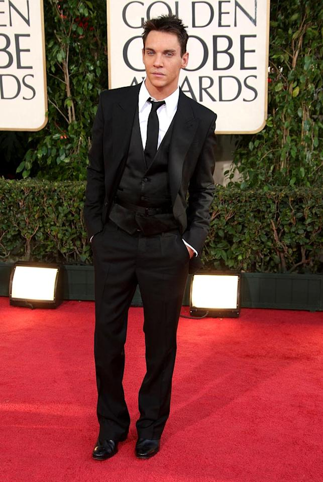 """Jonathan Rhys Meyers arrives at the 66th Annual Golden Globe Awards in Beverly Hills. Frazer Harrison/<a href=""""http://www.gettyimages.com/"""" target=""""new"""">GettyImages.com</a> - January 11, 2009"""