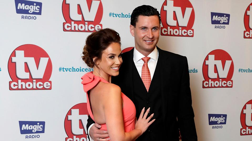 Vicky Pattison and John Noble arrive for the TV Choice Awards at The Dorchester on September 4, 2017
