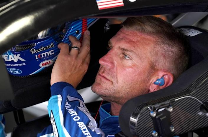NASCAR driver Clint Bowyer prepares for practice at Charlotte Motor Speedway on Thursday, May 23, 2019.