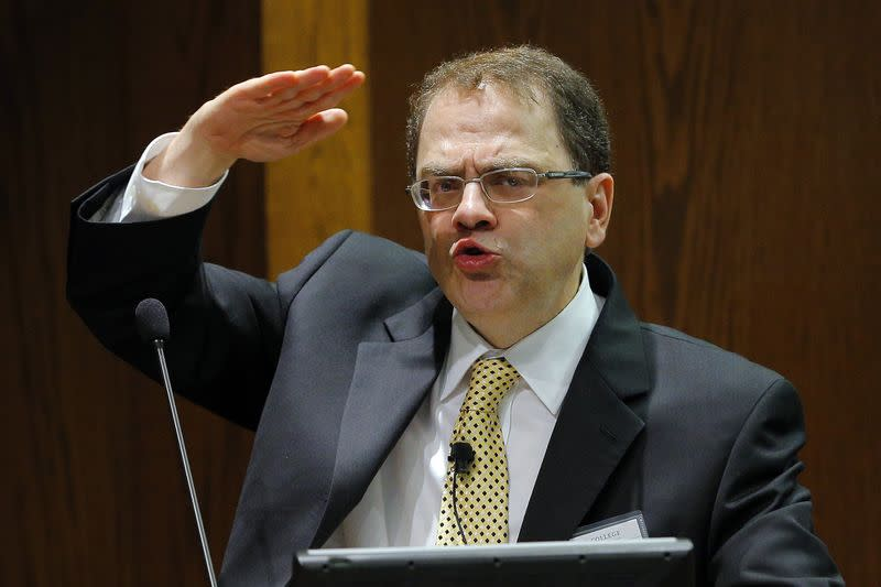 Narayana Kocherlakota, President of the Federal Reserve Bank of Minneapolis, speaks at the ninth annual Carroll School of Management Finance Conference at Boston College in Chestnut Hill