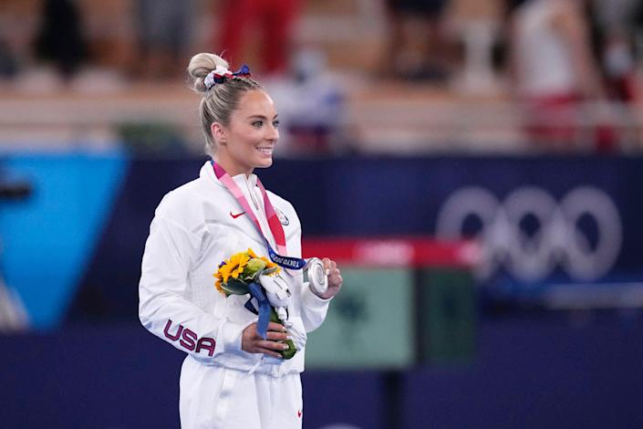 MyKayla Skinner wins silver in the women's vault final at the Tokyo Olympics.