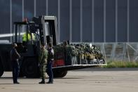 German doctors and medical equipment arrive to help Portugal amid the coronavirus disease (COVID-19) pandemic, in Lisbon