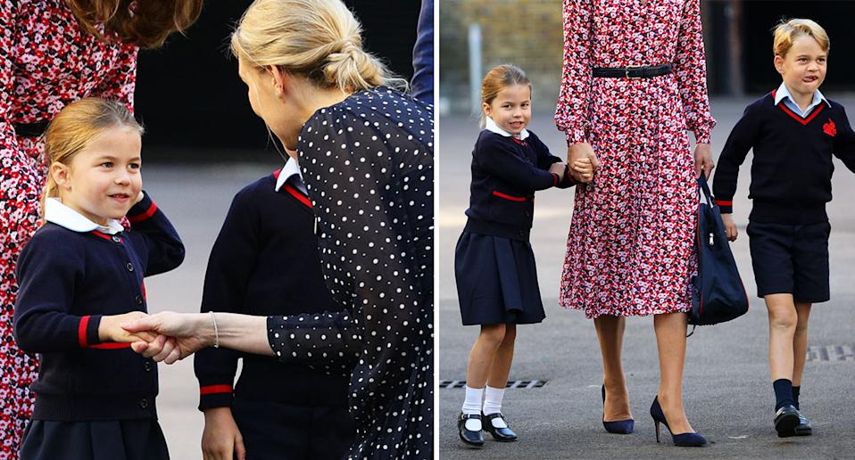 """Princess Charlotte put on a """"confident"""" display. [Photo: Getty]"""