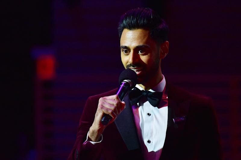 Hasan Minaj speaks onstage at the Time 100 Gala 2019 at Lincoln Center on April 23, 2019 in New York City. (Photo: Sean Zanni/Patrick McMullan via Getty Images)