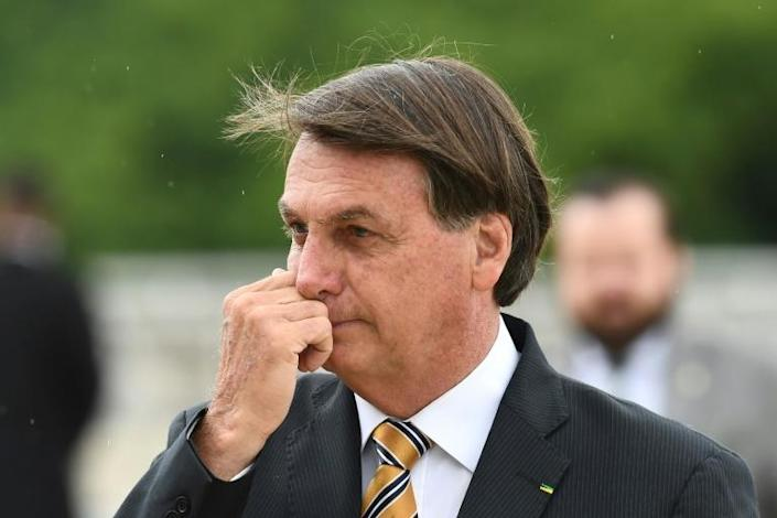 Analysts believe that the pandemic and resulting economic crisis contributed to the poor showing for candidates backed by Brazilian President Jair Bolsonaro (pictured November 19, 2020)
