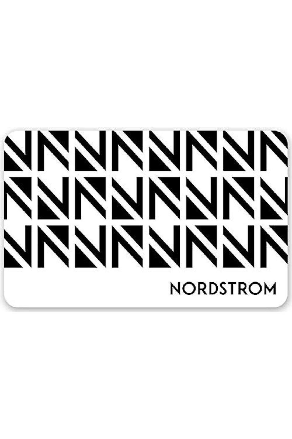 """<p><strong>Nordstrom</strong></p><p>nordstrom.com</p><p><a href=""""https://www.amazon.com/Nordstrom-Gift-Cards-E-mail-Delivery/dp/B01M749CK5?tag=syn-yahoo-20&ascsubtag=%5Bartid%7C10049.g.34229001%5Bsrc%7Cyahoo-us"""" rel=""""nofollow noopener"""" target=""""_blank"""" data-ylk=""""slk:Shop Now"""" class=""""link rapid-noclick-resp"""">Shop Now</a></p><p>Another one of those gifts that could potentially work for anyone on your list is a gift card to a department store like Nordstrom. They carry <em>everything</em>, like shoes, cosmetics, handbags, ties, coats, bedding, swimwear—should I keep going or do you get the idea? I think you get it, so go ahead and get one or two of these.</p>"""