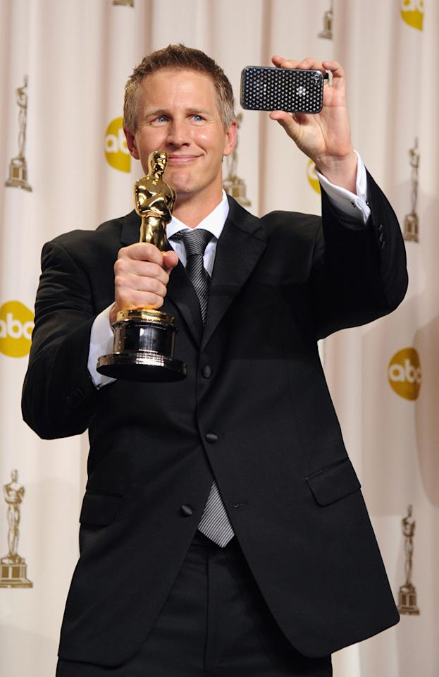 Filmmaker Daniel Junge poses in the press room at the 84th Annual Academy Awards held at the Hollywood & Highland Center on February 26, 2012 in Hollywood, California.