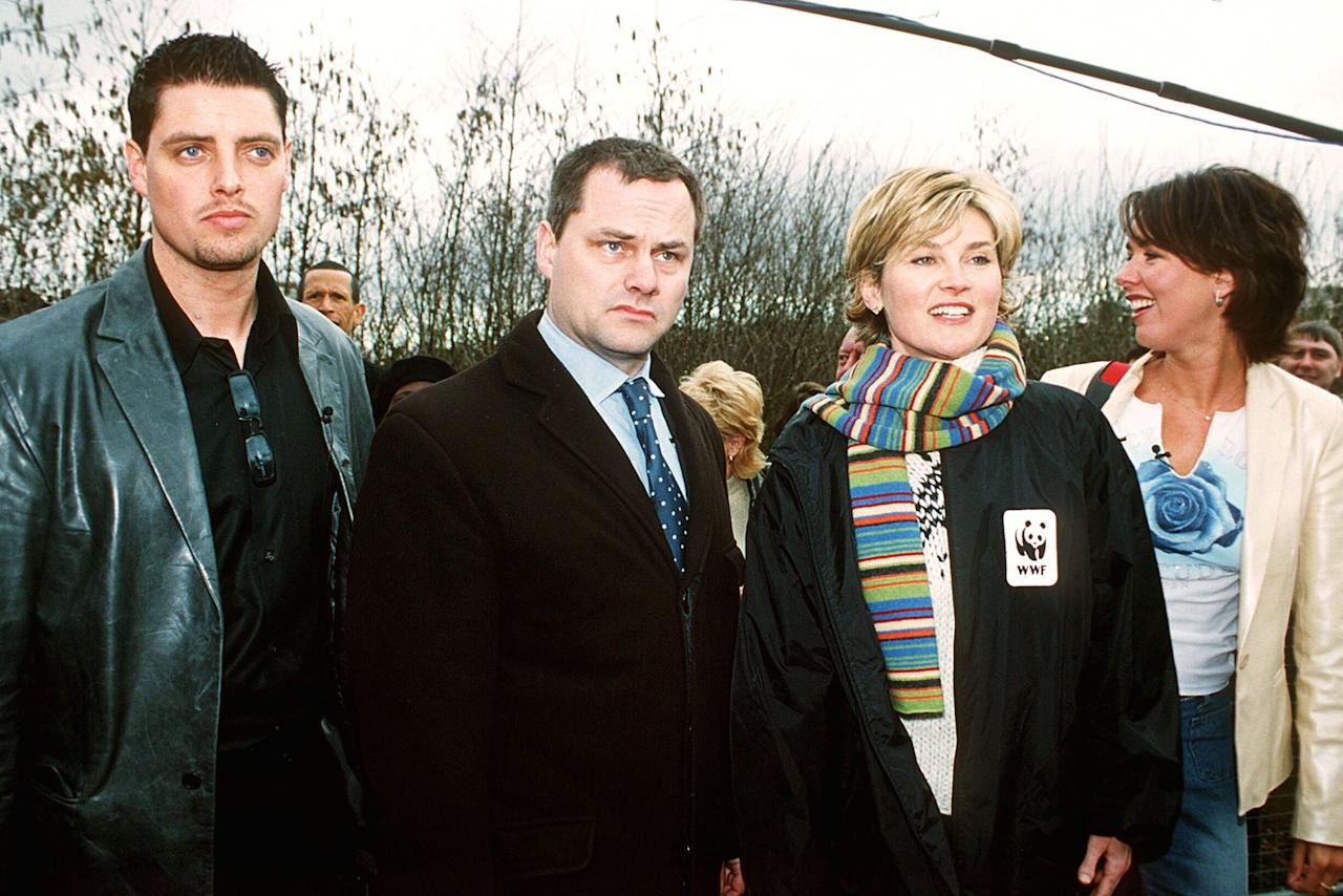 <p>Comedian Jack Dee won the first ever Celebrity Big Brother in 2001. Posing with fellow celebrity contestants Keith Duffy, Anthea Turner and Claire Sweeney Dee was beloved by audiences for his 'couldn't care less' attitude. Seemingly unimpressed by the entire affair, Dee even left the CBB house at one point and threatened to quit several times. <br />Credit: JULIAN MAKEY/REX/Shutterstock </p>