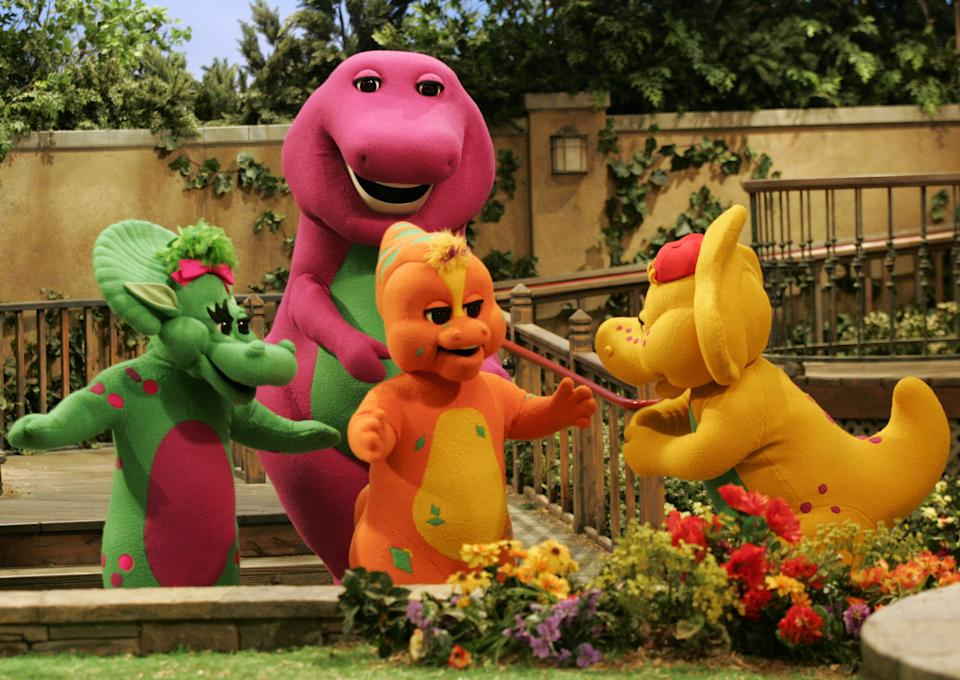 'Barney & Friends' was a kids' TV staple on PBS for over a decade. (AP Photo/Donna McWilliam)