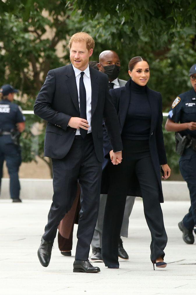 Prince Harry and Meghan Markle arrive at One World Trade Center observatory in New York City, NY, Sept. 23. - Credit: Christopher Peterson/Splash News