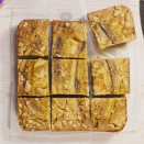 """<p>Complete with a delicious <a href=""""https://www.delish.com/uk/cooking/recipes/a35487496/banana-flapjack/"""" rel=""""nofollow noopener"""" target=""""_blank"""" data-ylk=""""slk:banana"""" class=""""link rapid-noclick-resp"""">banana</a>-flavoured blondie base, topped with a layer of <a href=""""https://www.delish.com/uk/food-news/a29733868/how-to-make-caramel/"""" rel=""""nofollow noopener"""" target=""""_blank"""" data-ylk=""""slk:caramel"""" class=""""link rapid-noclick-resp"""">caramel</a>, slices of banana and finished with crumbled digestive biscuits for some added crunch, this is the ultimate mash-up recipe. </p><p>Get the <a href=""""https://www.delish.com/uk/cooking/recipes/a35945411/banana-blondies/"""" rel=""""nofollow noopener"""" target=""""_blank"""" data-ylk=""""slk:Banoffee Blondies"""" class=""""link rapid-noclick-resp"""">Banoffee Blondies</a> recipe.</p>"""