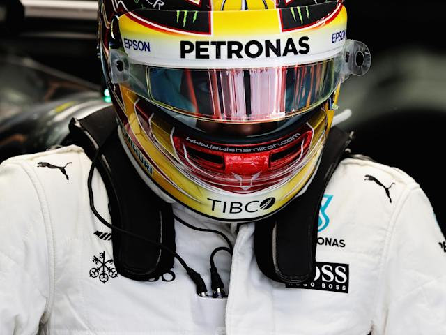 Hamilton could not help but be disappointed with his second-place finish: Getty