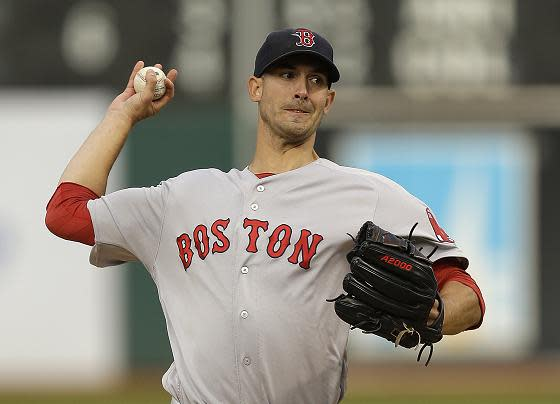 Rick Porcello is 20-3 with a 3.21 ERA for the Red Sox this season. (AP)