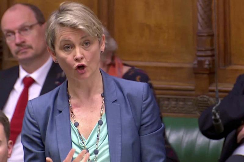 Yvette Cooper in the Commons last year (REUTERS)