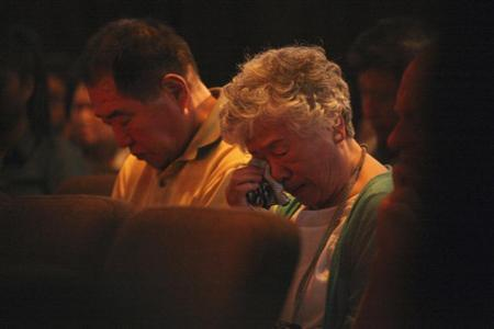 Sung Seo and Myunghee Bae, parents of Kenneth Bae during a vigil for Kenneth in Seattle