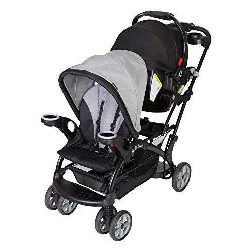 """<p><strong>Baby Trend</strong></p><p>amazon.com</p><p><strong>$139.99</strong></p><p><a href=""""https://www.amazon.com/dp/B07BVB8Z4L?tag=syn-yahoo-20&ascsubtag=%5Bartid%7C2089.g.37348107%5Bsrc%7Cyahoo-us"""" rel=""""nofollow noopener"""" target=""""_blank"""" data-ylk=""""slk:Shop Now"""" class=""""link rapid-noclick-resp"""">Shop Now</a></p><p>This is extremely similar to the original Baby Trend Sit and Stand that also appears on this list, but with one big difference — the tandem car seat capability.<br><br>Most of these strollers require you to put the car seat in the seat farthest away from you. Not this one: your littlest child is up close to you the whole time. This is great for feeding, pacifier retrieval, and general entertainment purposes. </p><p><strong>The Takeaway: </strong><br>All the benefits of the Sit and Stand, plus the baby is right in front of you.</p>"""