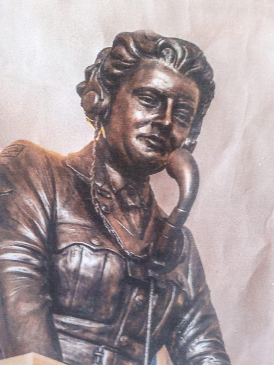 A bronze of Gladys Eva at the Bentley Priory Museum