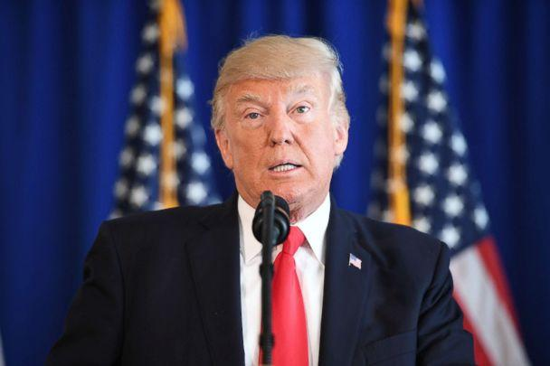 PHOTO: President Donald Trump speaks to the press about protests in Charlottesville on Aug. 12, 2017, at Trump National Golf Club in Bedminster, N.J. (Jim Watson/AFP/Getty Images)