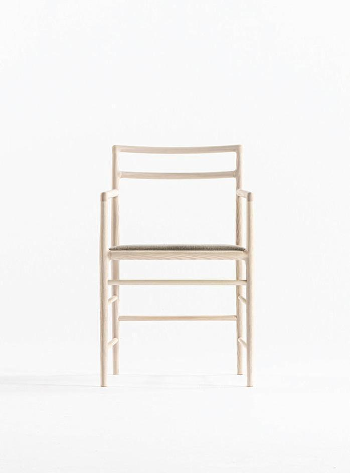 A simple wooden chair featured in De Padova and Time & Style's new collaborative furniture collection.