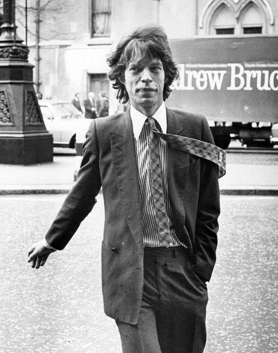 <p>Mick Jagger out in London in 1979.</p>